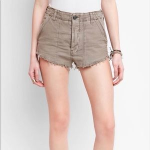 Free people Raw Edge Mini hi waisted shorts